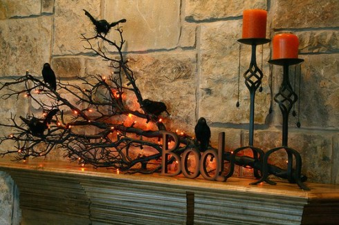 indoor halloween decorating ideas with ravens