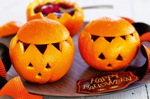 Easy and cute halloween recipe with orange
