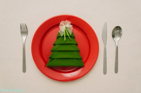 Instructions for Christmas tree table napkin 2