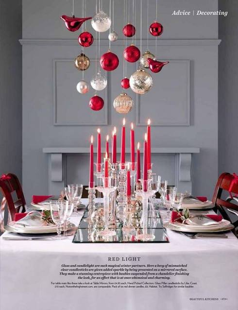 creative christmas table decor ideas  with pink color 2