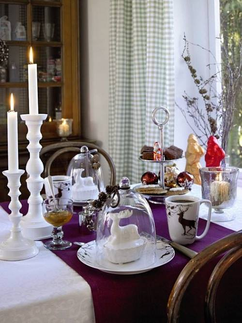 Purple Christmas Table Decorations Part - 31: ... Creative Christmas Table Decor Ideas With Pink Color Purple ...