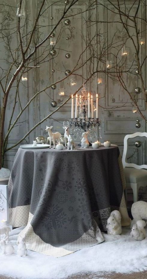 interesting christmas table decor ideas