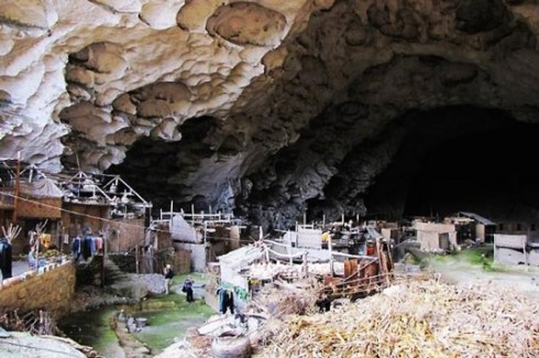 unusual Mao cave village in Ziyun County, China