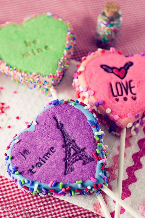 pretty candy and cookie recipe for the VDay