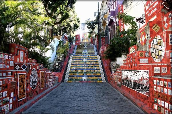 nghệ thuật đường phố cầu thang tuyệt vời trên khắp thế giới, Brazil