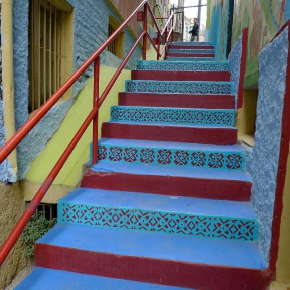 nghệ thuật đường phố cầu thang tuyệt vời trên khắp thế giới, Chile 2
