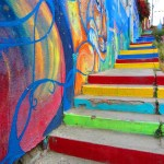 amazing stairs street art around the world, Chile