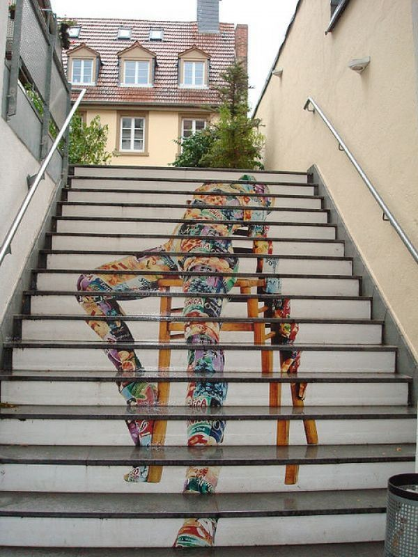 amazing stairs street artHeidelberg, Germany