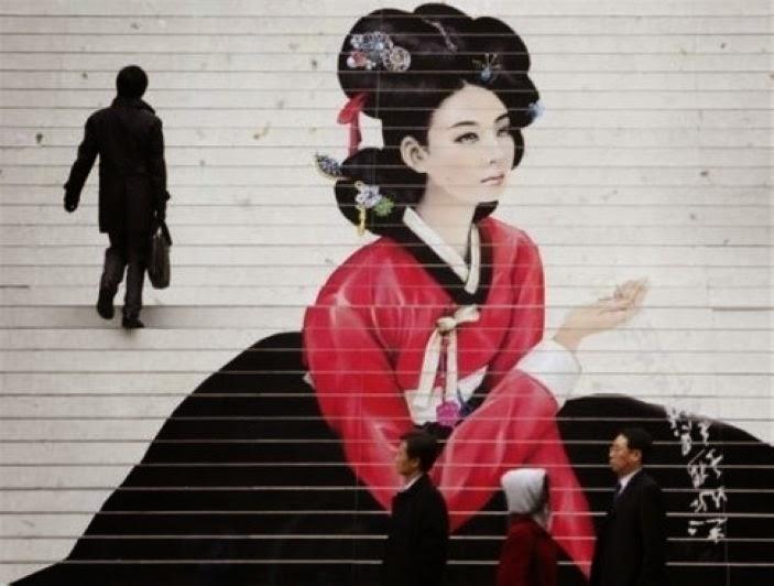 nghệ thuật đường phố cầu thang tuyệt vời trên khắp thế giới Seoul - Hàn Quốc