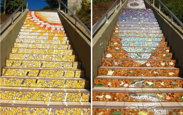 nghệ thuật đường phố cầu thang tuyệt vời trên khắp thế giới, San Francisco 2