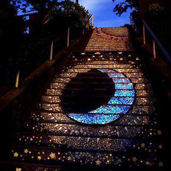 amazing stairs street art around the world, San Francisco 3