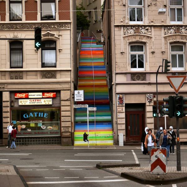 Nghệ thuật đường phố cầu thang tuyệt vời trên khắp thế giới, Wuppertal, Đức 2