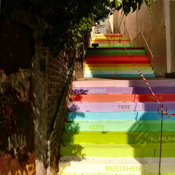 amazing stairs street art around the world, Wuppertal, Germany