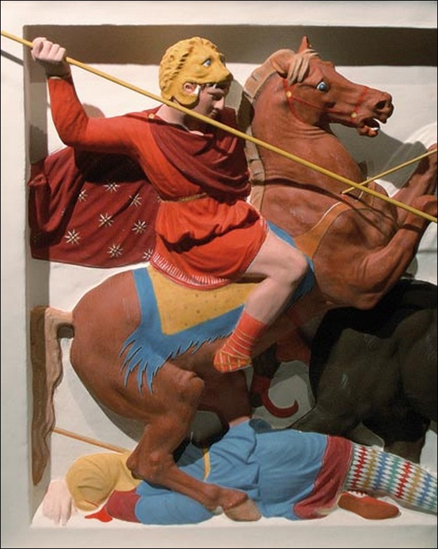 the original colors of ancient Greek and Roman sculptures 8