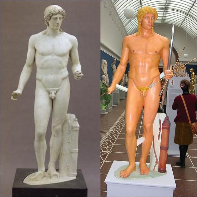 the original colors of ancient Greek and Roman sculptures 10