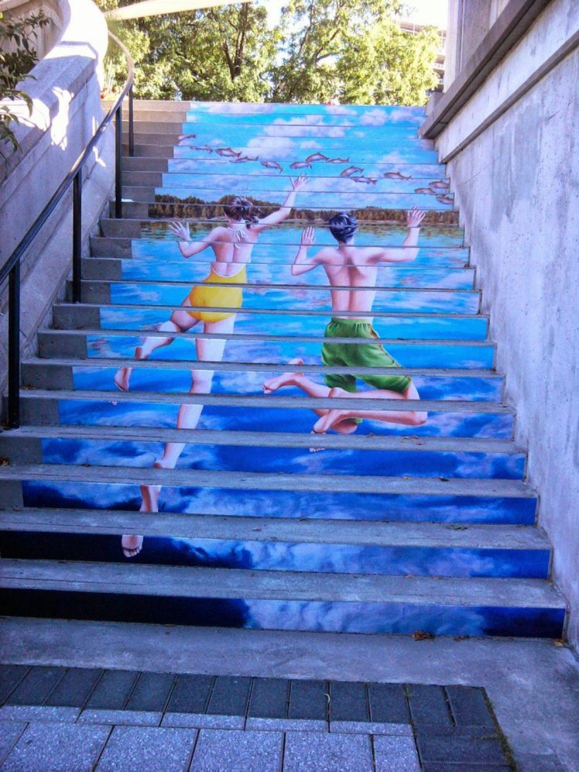 nghệ thuật đường phố cầu thang tuyệt vời trên khắp thế giới, Ottawa - Canada-2