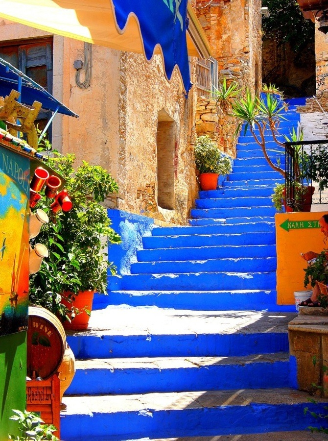 amazing paths around the world Symi, Greece