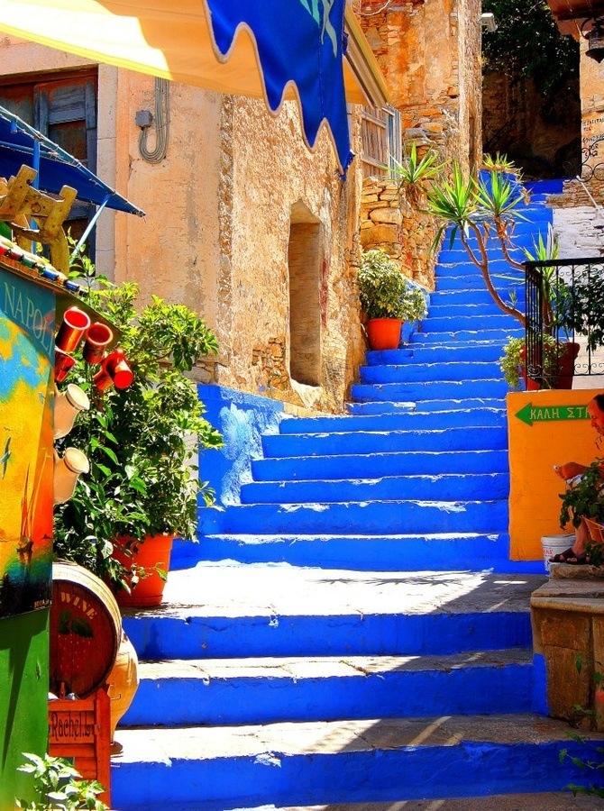 amazing paths around the world Symi, Greece