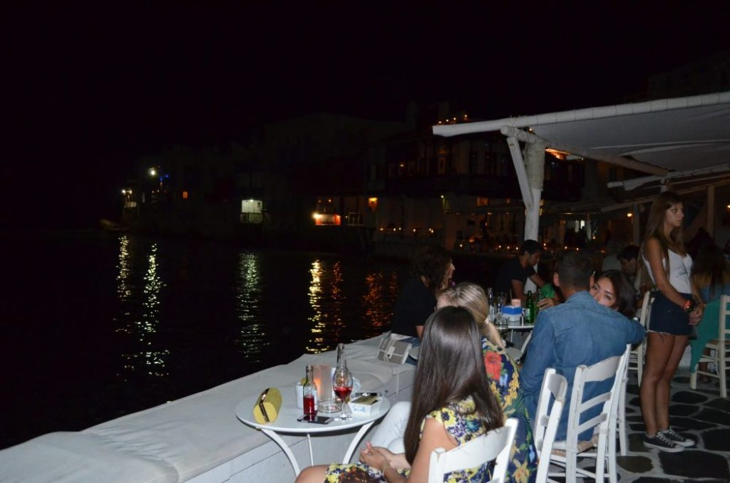 interesting things to see in Greek island Mykonos, coctail bar in Little Venice