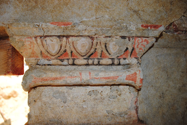 Interior of the tomb in Amphipolis, Serres