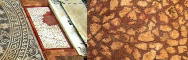 parallels between Verginas tombs and the new finds at Amphipolis, floor