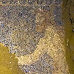 Interior of the tomb in Amphipolis, mosaic 2