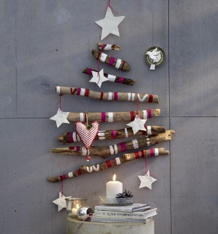 source diy unusual christmas tree purple - Wood Christmas Trees