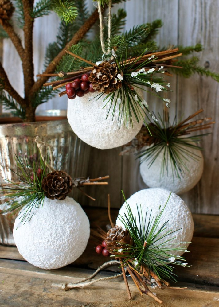Homemade rustic christmas ornaments - Diy Christmas Ornament White
