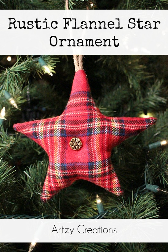 diy christmas ornament, fabric star