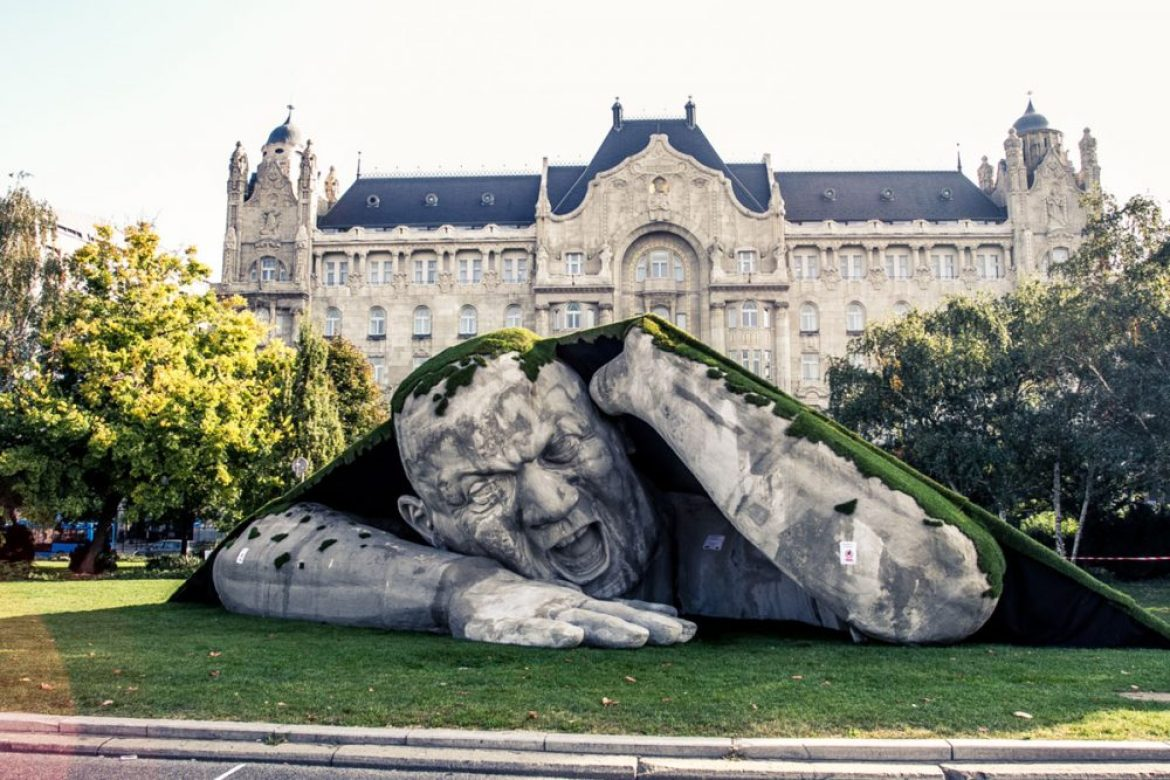 unusual statues around the glob, Budapest