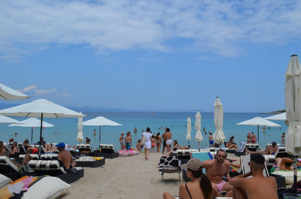 Greece Halkidiki Paliouri beach, best beach bar in Halkidiki Cabana 4