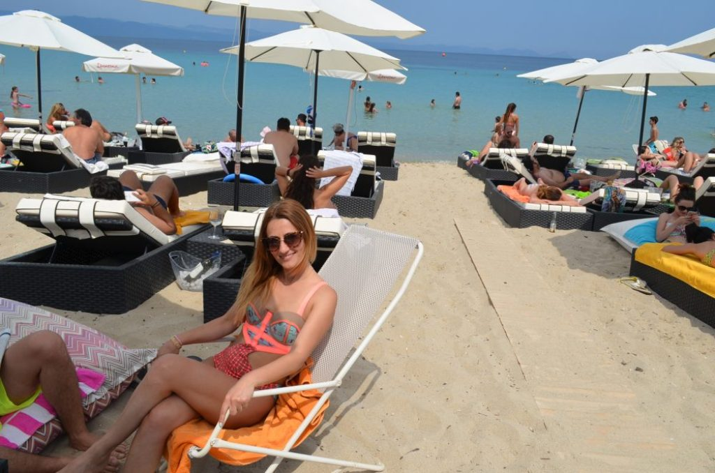 Greece Halkidiki Paliouri beach, best beach bar in Halkidiki Cabana 2