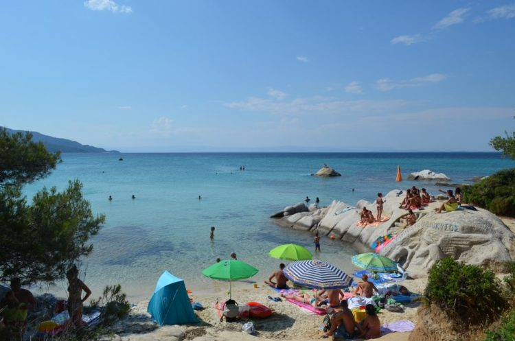 summer time in the most picturesque beach in Sithonia, Kavourotrupes 14
