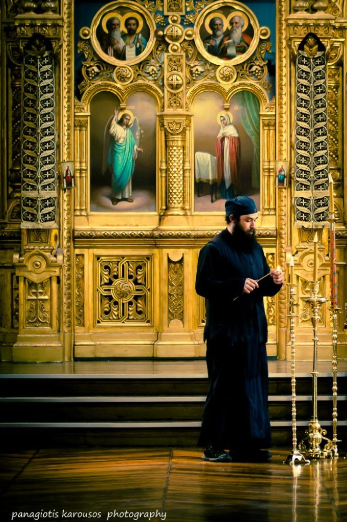 Monk at the mount Athos monastery 3