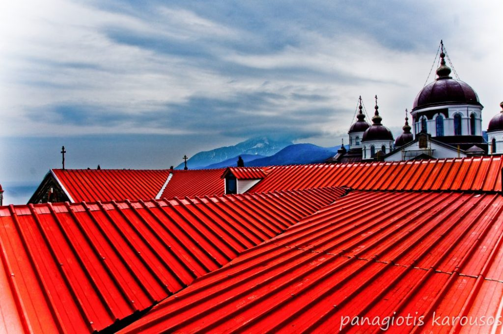 Chalkidiki, roof top of the monastery of Mount Athos