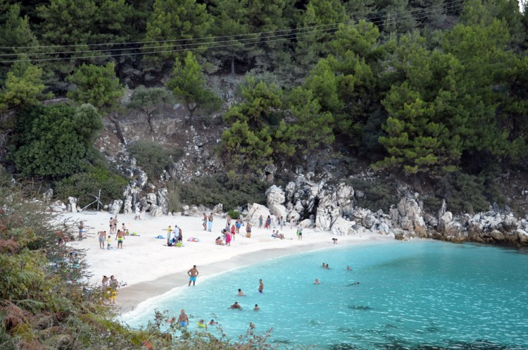 most beautiful beach in Thassos, marble beach 2