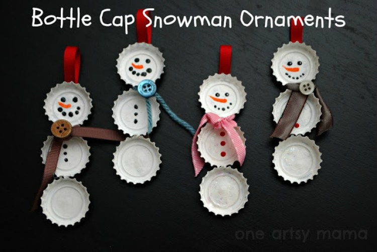 bottlecap-snowmen-ornament