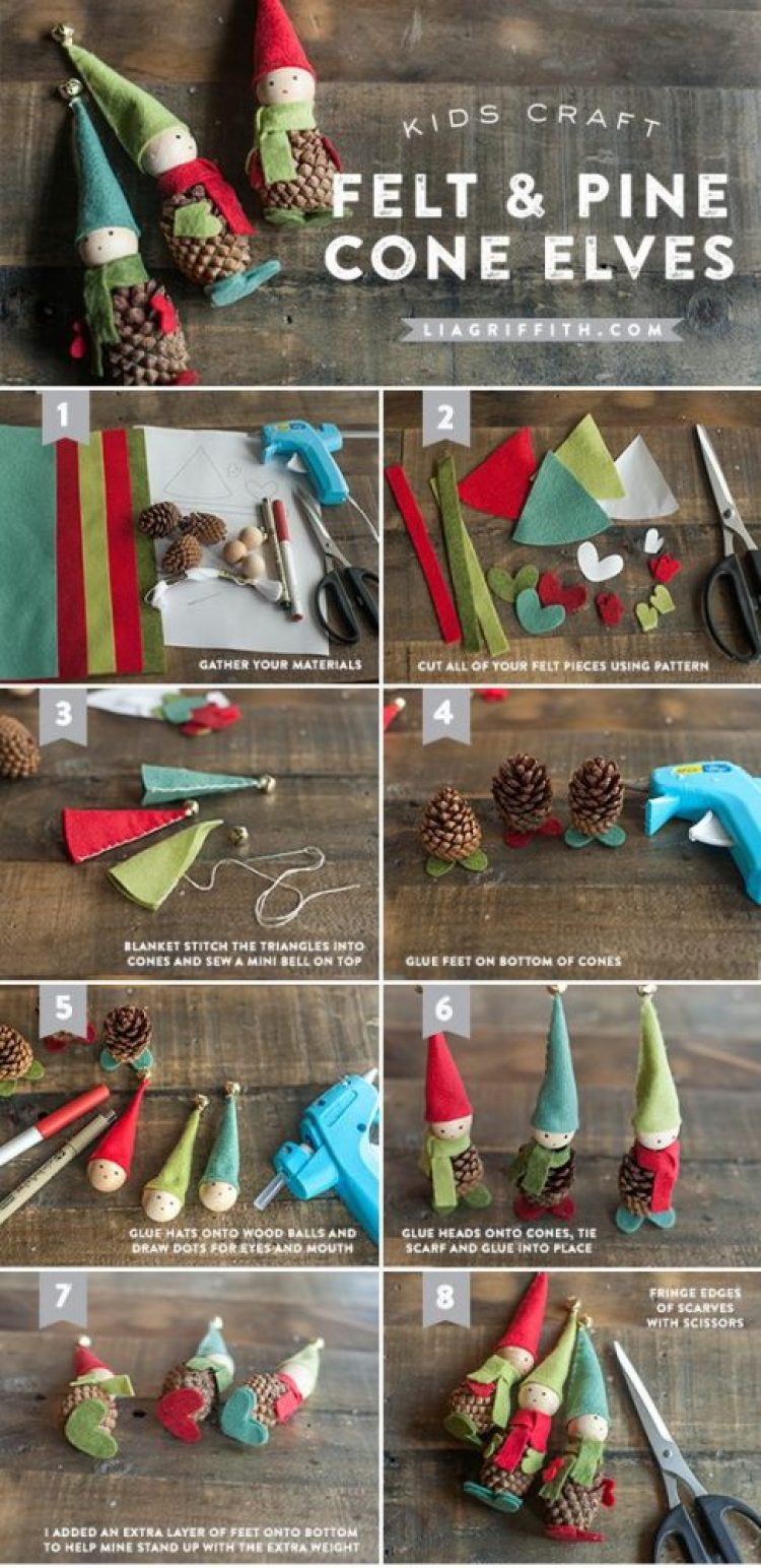 holiday homemade pinecone xmas ornaments 6