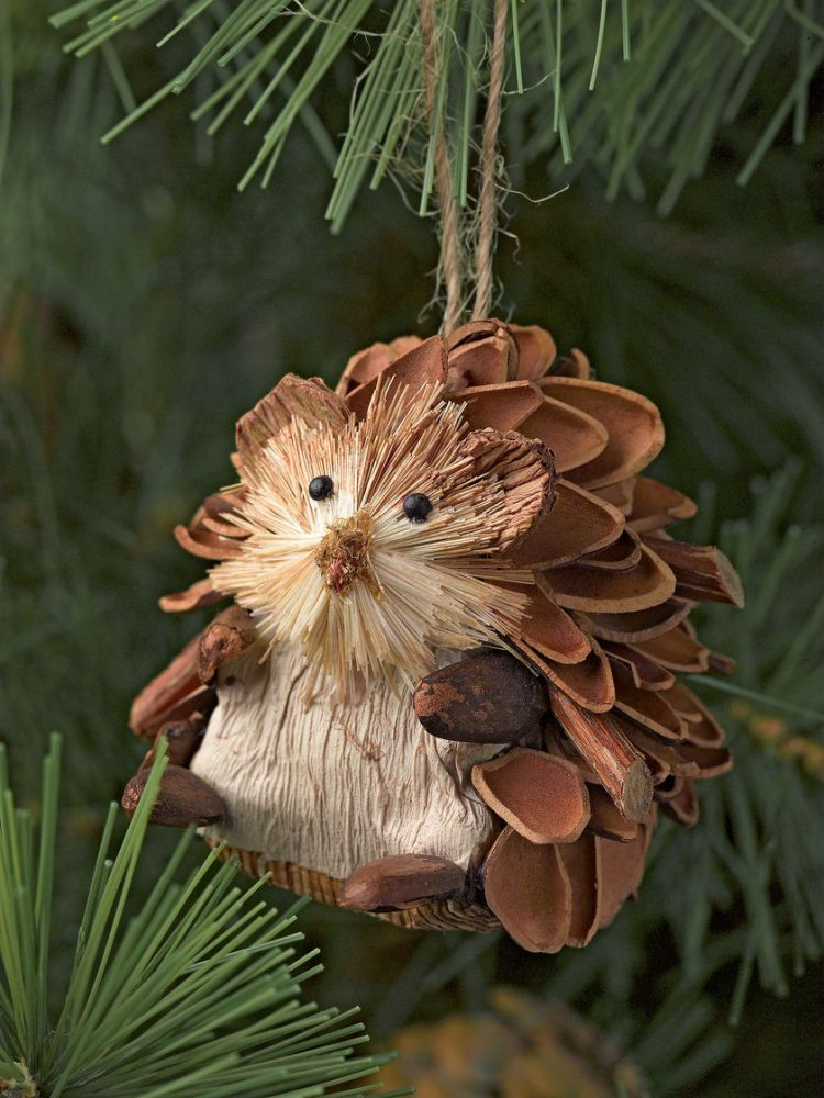 holiday homemade pinecone xmas ornaments 28