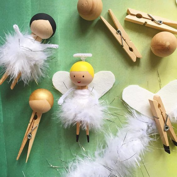 unusual holiday handmade crafts, angels