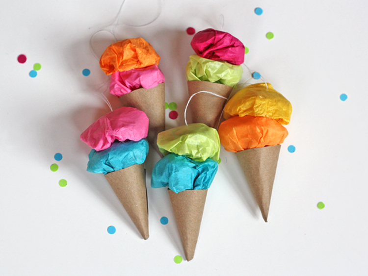 unusual holiday handmade crafts, ice cream