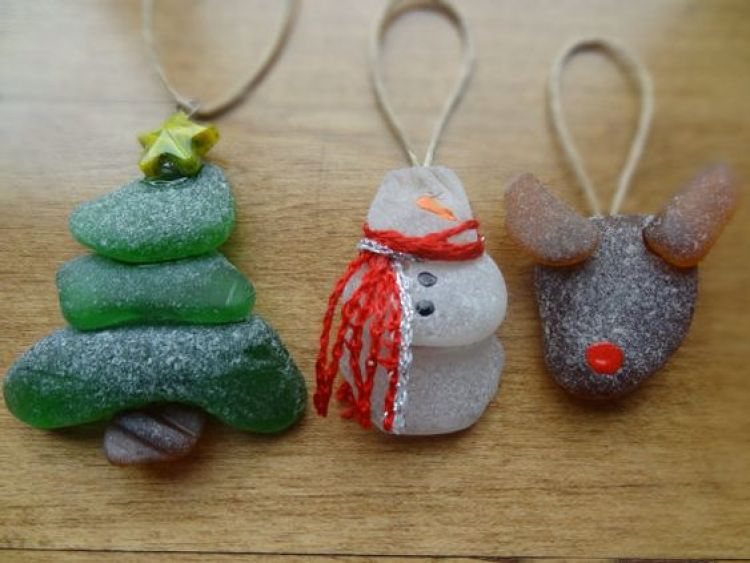 unusual holiday handmade crafts, beach glass
