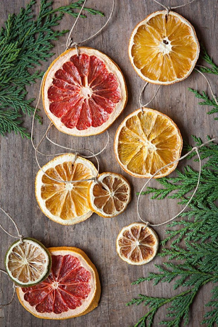 unusual holiday handmade crafts, citrus