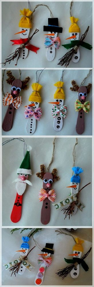 unusual holiday handmade crafts, icecream-sticks