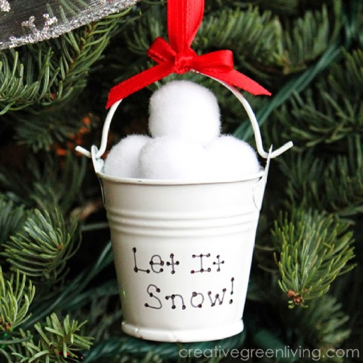 unusual holiday handmade crafts, snow ball