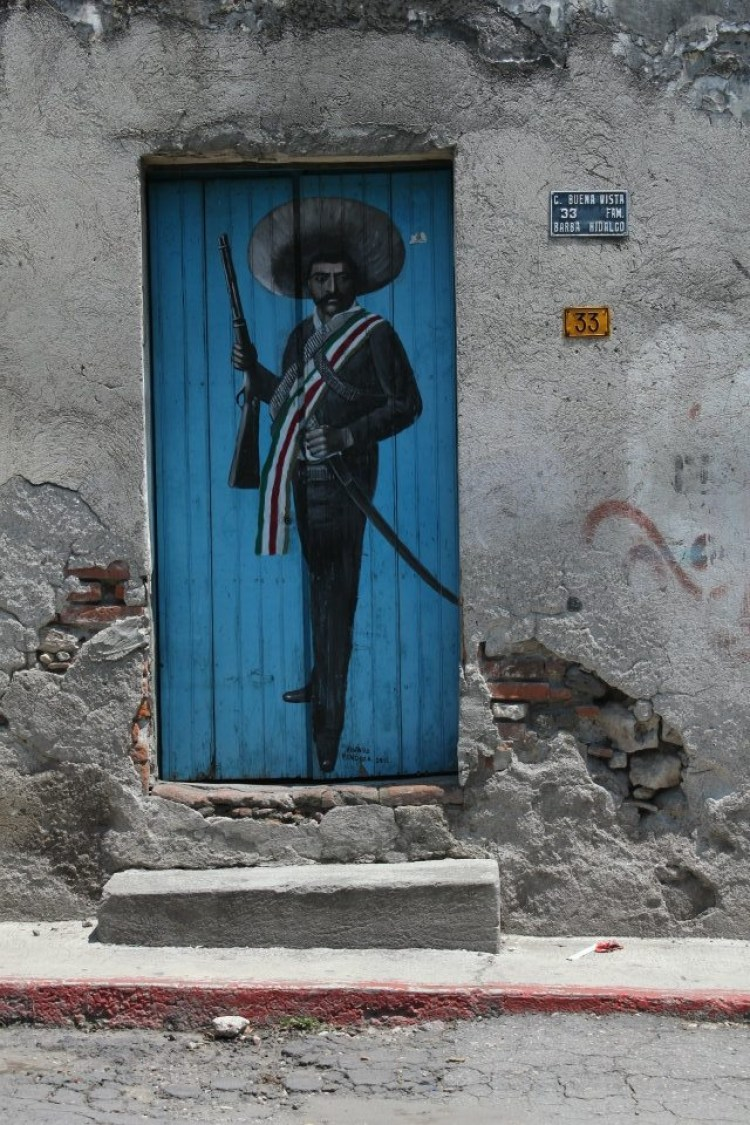 unusual and creative painted doors, Mexico