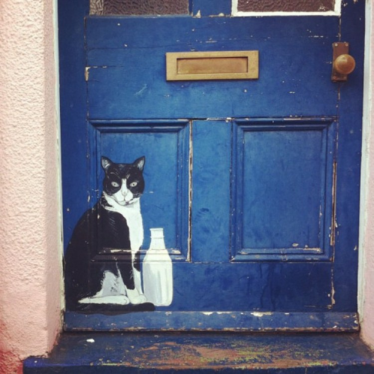 unusual and creative painted doors, London
