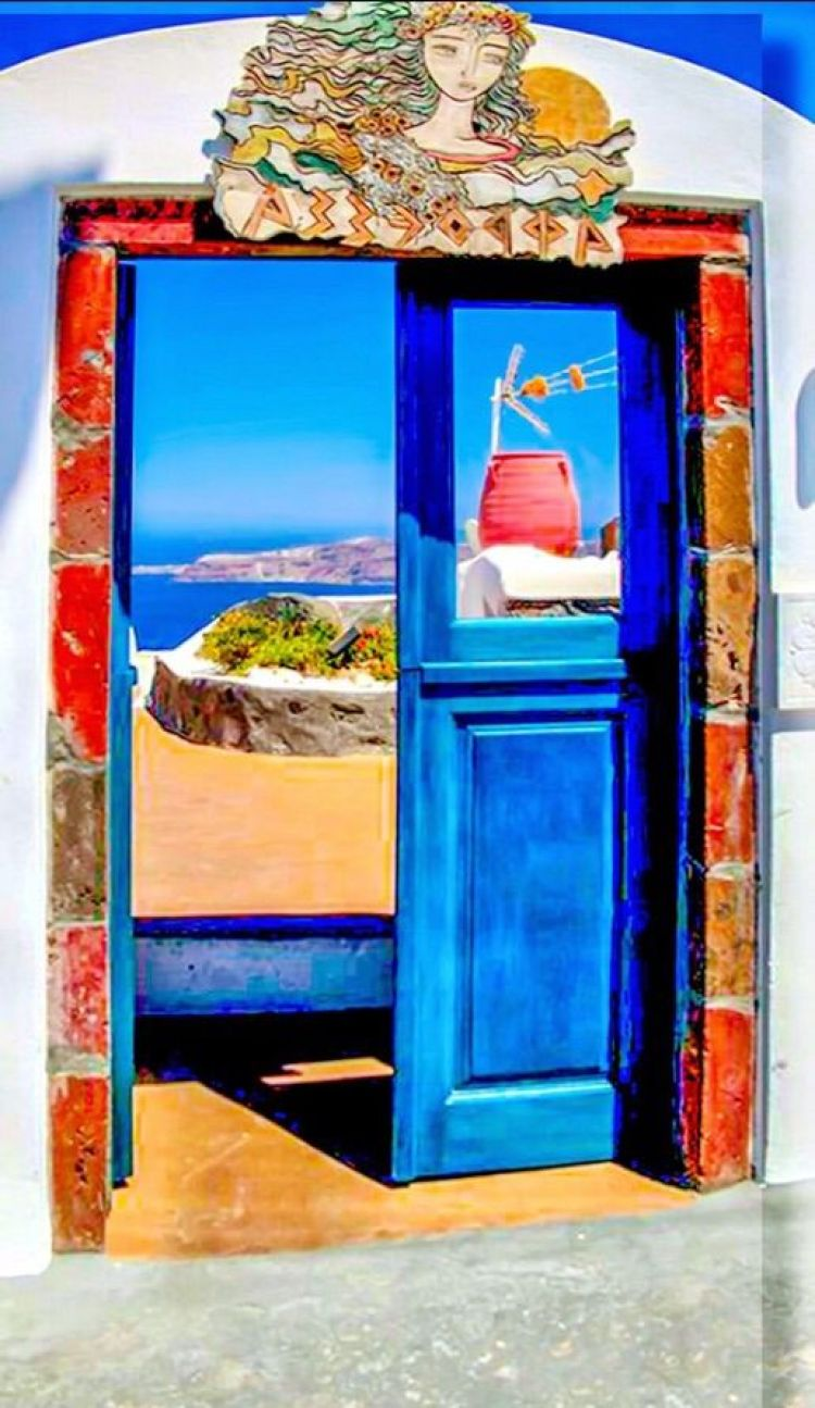 unusual and creative painted doors, Greece