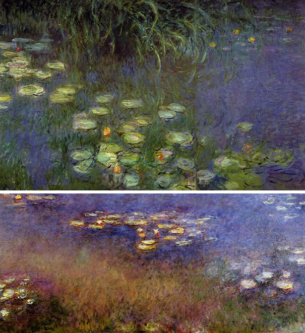 art history, the last paintings done by famous painters, Water Lillies