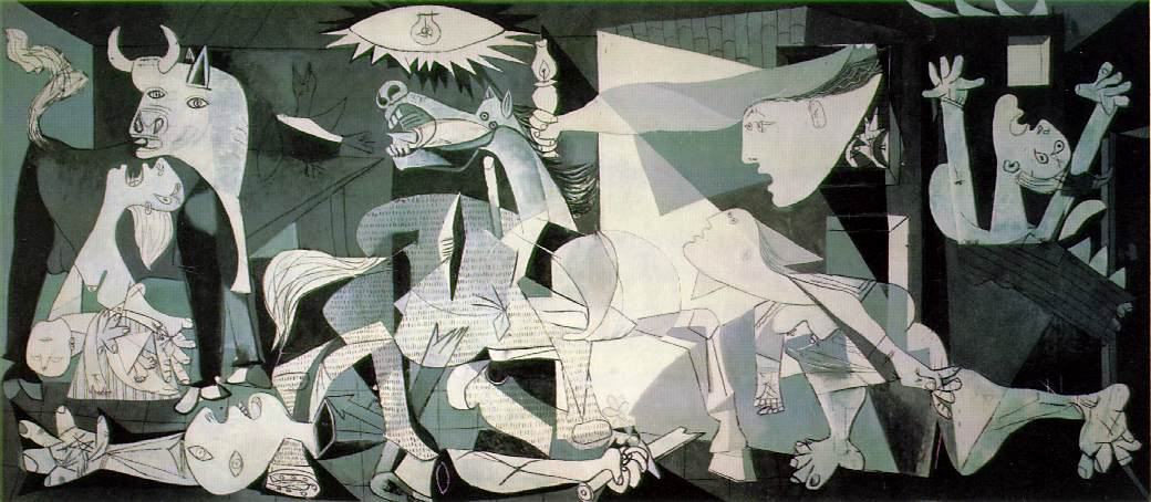 art history, most popular paintings done by famous painters, Guernica